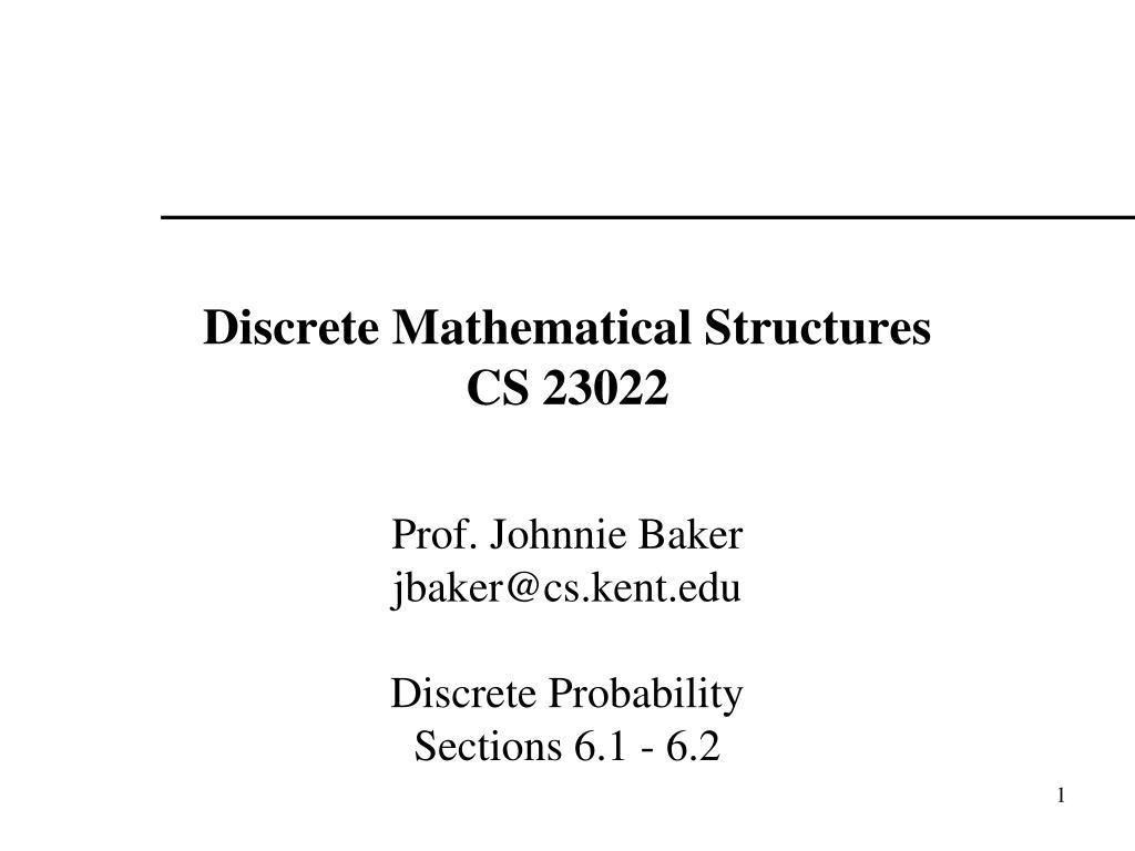 discrete mathematical structures cs 23022 l.