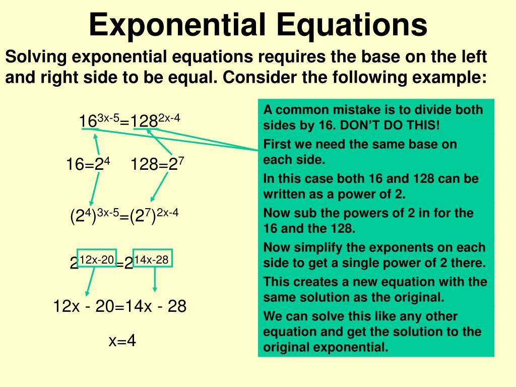 exponential equations l.