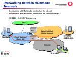 interworking between multimedia terminals