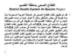 district health system al qassim region