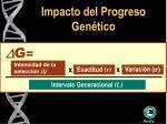 impacto del progreso gen tico