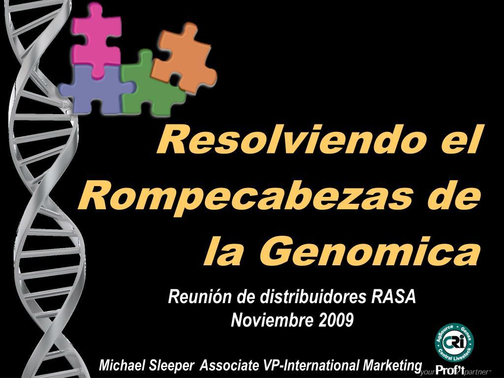 resolviendo el rompecabezas de la genomica l.