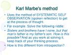 karl marbe s method