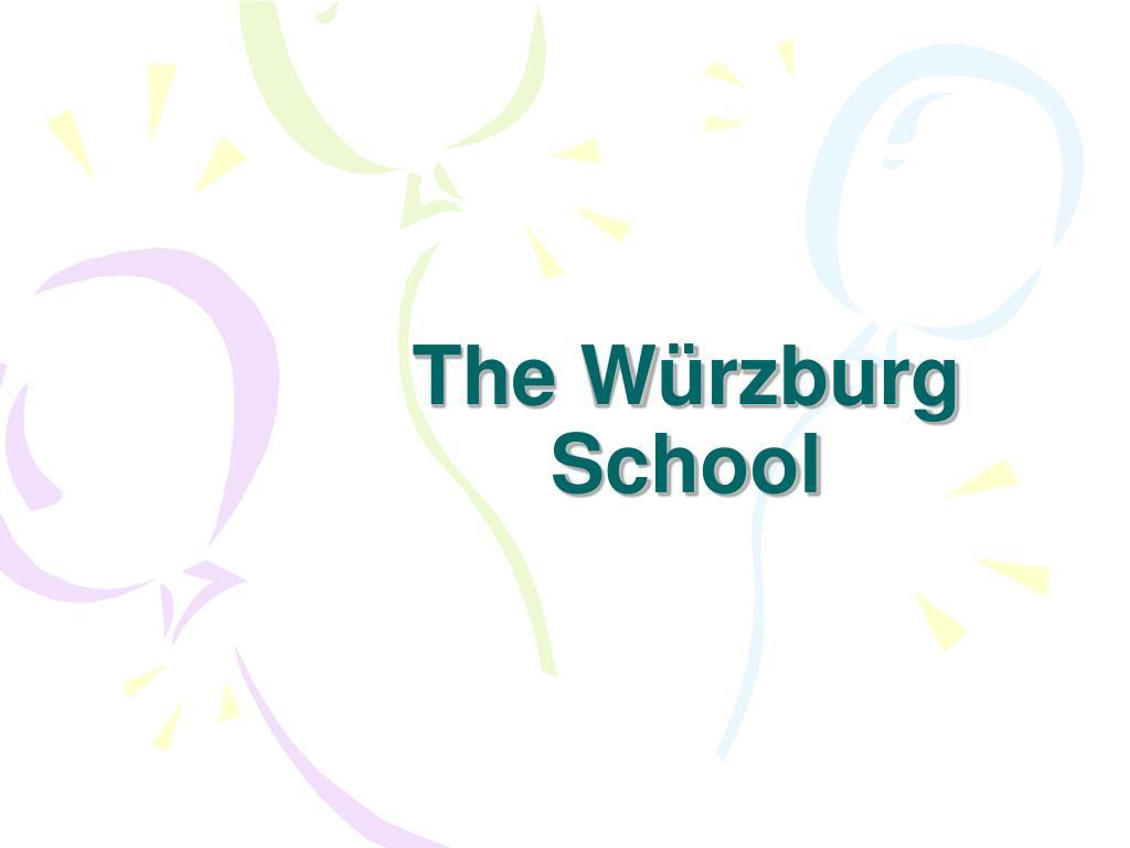 the w rzburg school l.