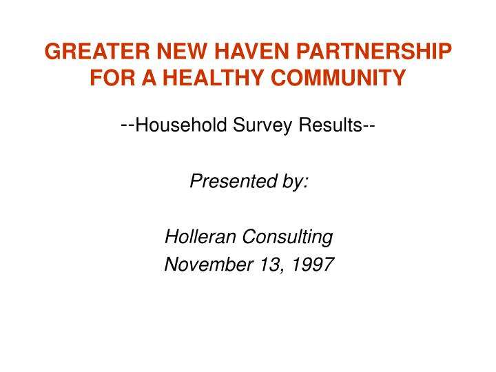 greater new haven partnership for a healthy community n.