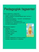 pedagogisk fagsenter35