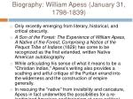 biography william apess january 31 1798 1839