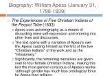 biography william apess january 31 1798 183912