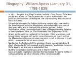 biography william apess january 31 1798 183915