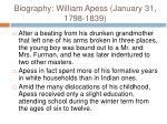 biography william apess january 31 1798 18395