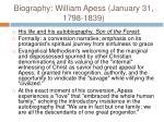 biography william apess january 31 1798 18397