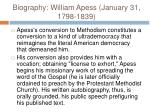 biography william apess january 31 1798 18398