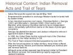 historical context indian removal acts and trail of tears29
