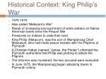 historical context king philip s war