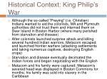 historical context king philip s war25