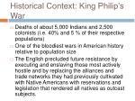 historical context king philip s war26