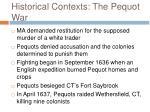 historical contexts the pequot war20