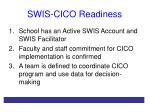 swis cico readiness