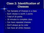 class 2 identification of cheeses