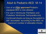 adult pediatric aed m 14