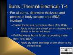 burns thermal electrical t 4