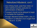 nebulized albuterol con t37
