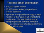 protocol book distribution