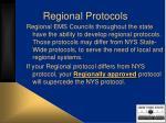 regional protocols