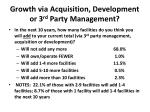 growth via acquisition development or 3 rd party management