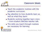 classroom ideals