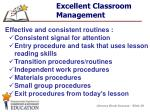 excellent classroom management