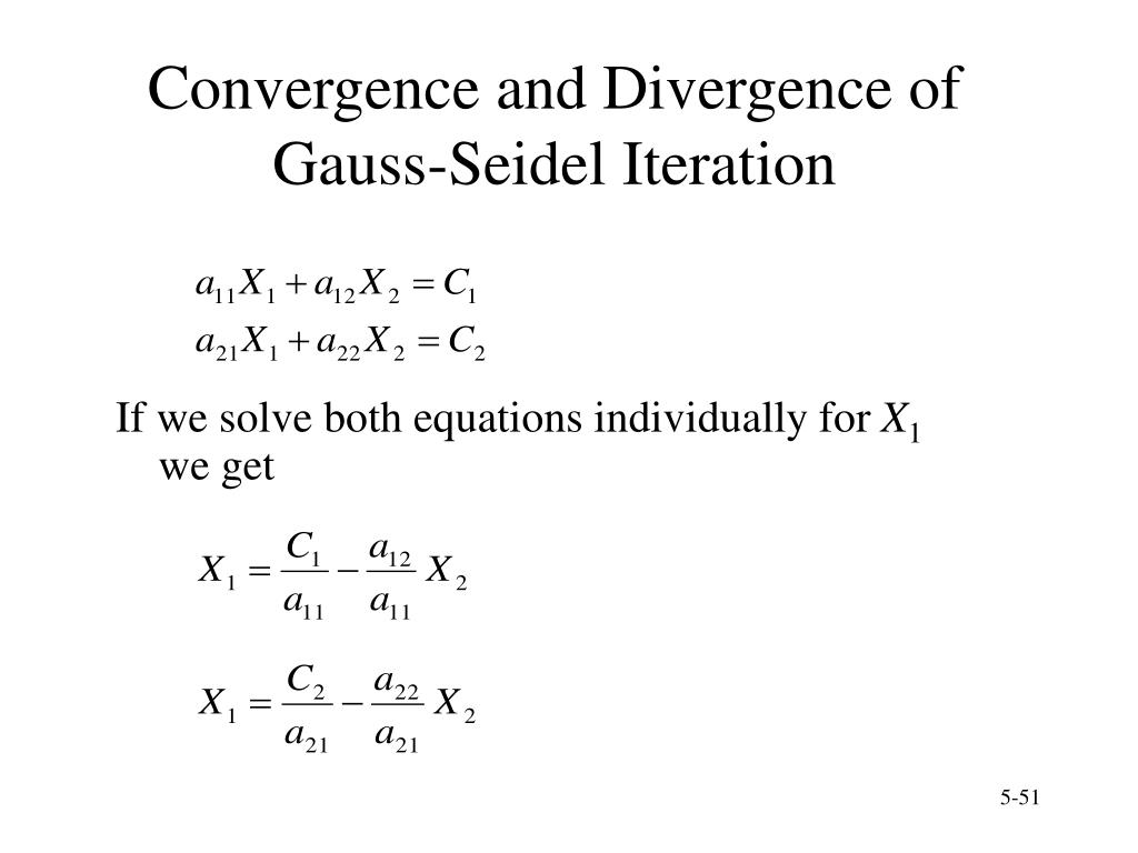 Convergence and Divergence of Gauss-Seidel Iteration