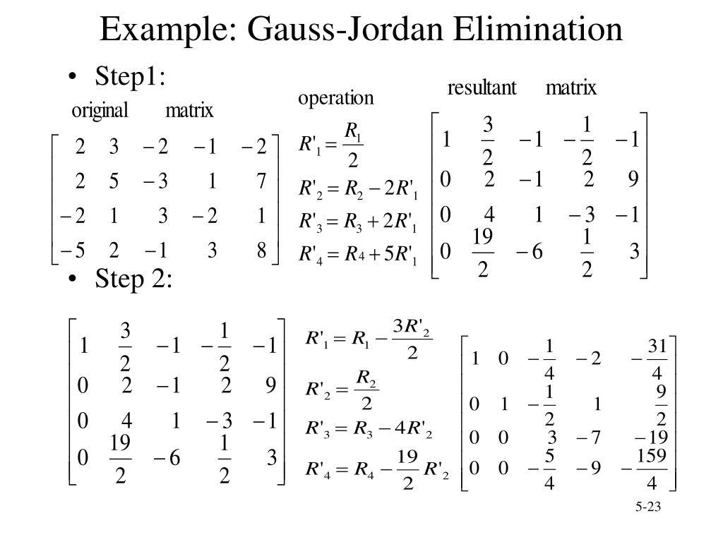 Example: Gauss-Jordan Elimination