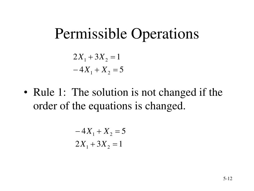 Permissible Operations