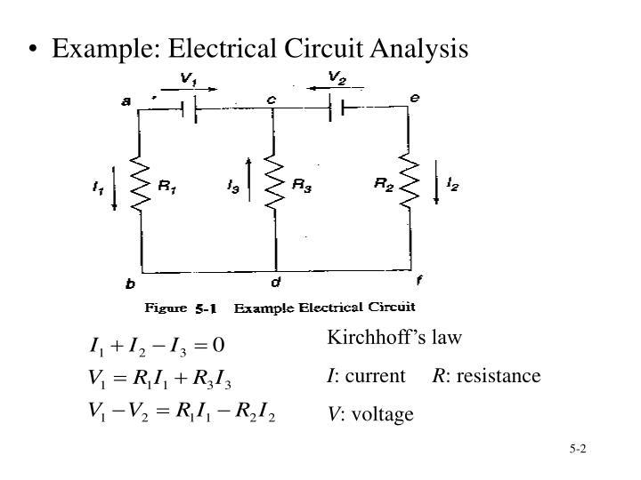 Example: Electrical Circuit Analysis