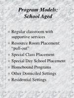 program models school aged