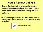 nurse review defined