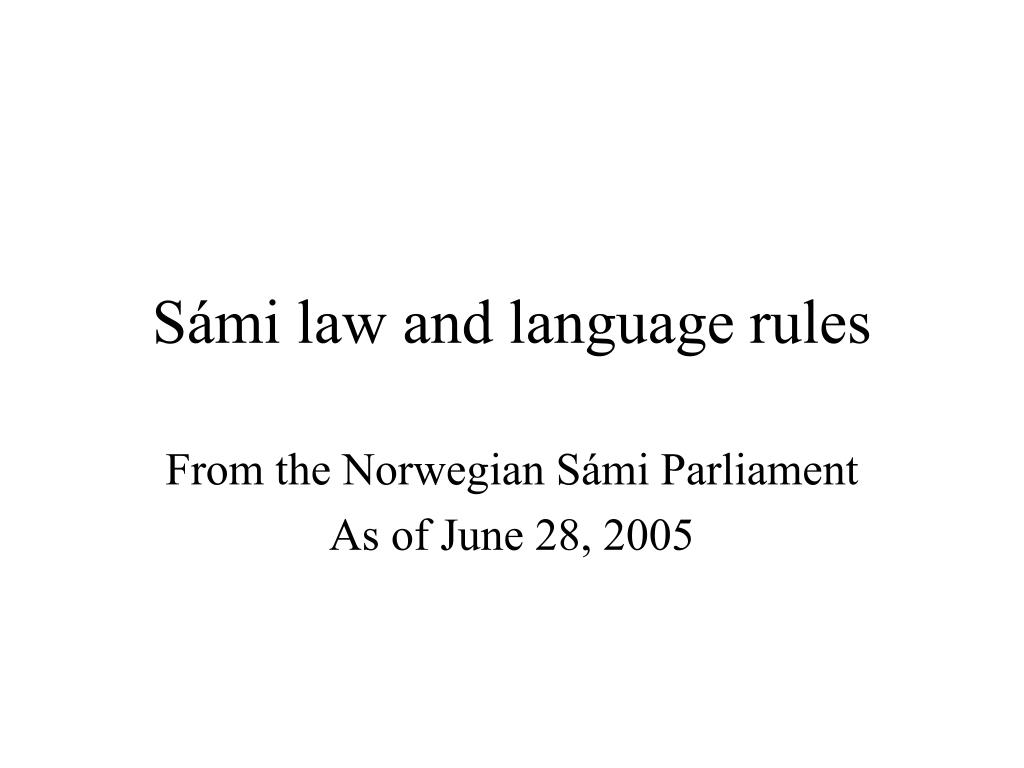 s mi law and language rules l.