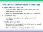 fundamental characteristics of web apps