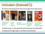 motivation financial
