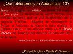 qu obtenemos en apocalipsis 13