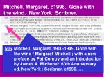 mitchell margaret c1996 gone with the wind new york scribner