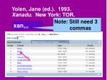 yolen jane ed 1993 xanadu new york tor