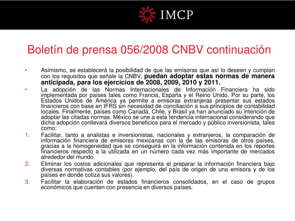 Boletín de prensa 056/2008 CNBV continuación