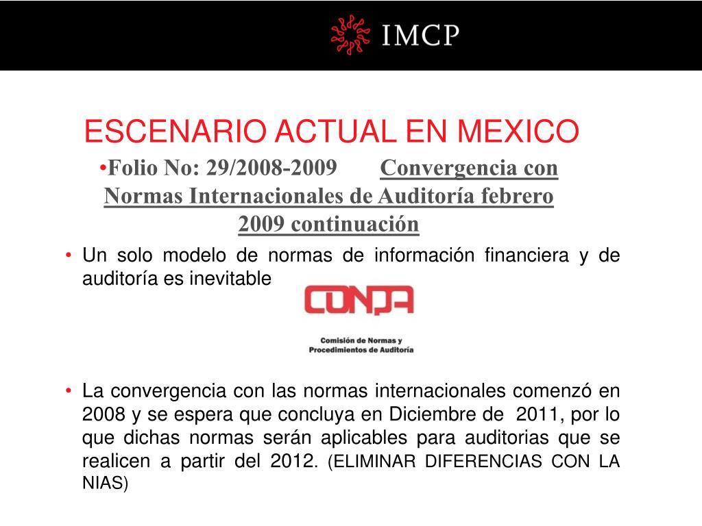 ESCENARIO ACTUAL EN MEXICO
