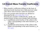 5 6 overall mass transfer coefficients