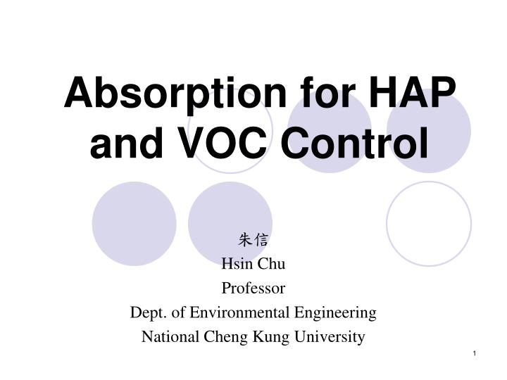 absorption for hap and voc control n.