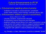 cultural enhancements to ipt b grote et al 2009 psychiatric services 60 313 321
