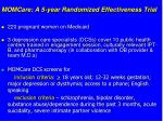 momcare a 5 year randomized effectiveness trial