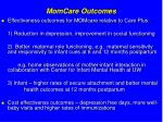 momcare outcomes